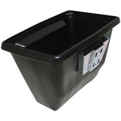 White Bus Wastebaskets